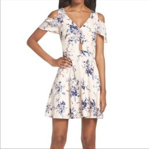 Ali and Jay chasing butterflies dress